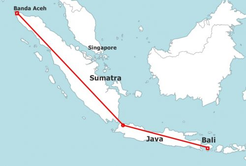 Banda Bali map